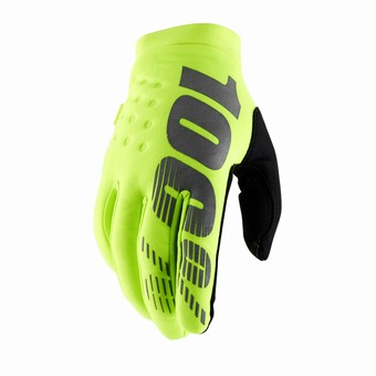 BRISKER Gloves Fluo Yellow