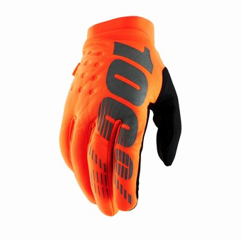 BRISKER Gloves Fluo Orange/Black