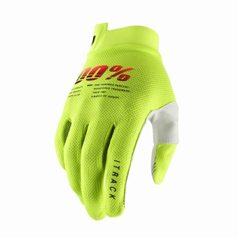 ITRACK Youth Gloves Fluo Yellow