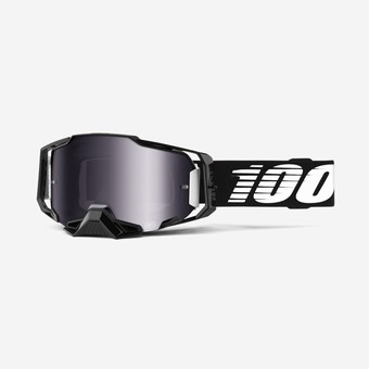 50710-001-02-ARMEGA Goggle Black - Silver Flash Mirror Lens