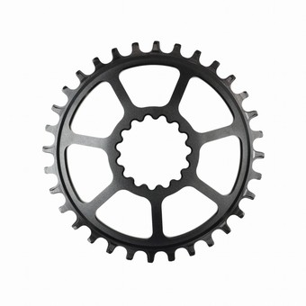 CR3UNA-102-e*thirteen | SL Guidering | Direct Mount | 32T | For Boost/non-Boost Adjustable Chainline Cranks | Black | 10/11/12spd Compatible