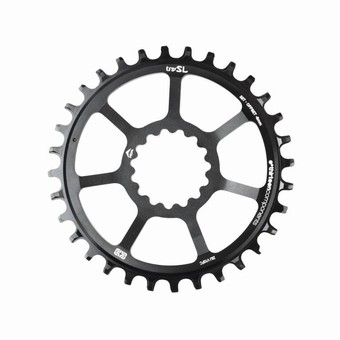 CR3UNA-103-e*thirteen | SL Guidering | Direct Mount | 34T | For Boost/non-Boost Adjustable Chainline Cranks | Black | 10/11/12spd Compatible