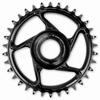 CR4UPA-108-e*thirteen | e*spec Aluminum Direct Mount Chainring | 36T | Shimano E8000 | Black