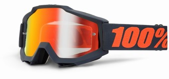 ACCURI Goggle Matte Gunmetal - Mirror Red Lens