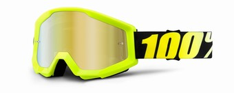 STRATA Goggle Neon Yellow - Mirror Gold Lens